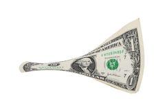 Fattura allungata del dollaro Fotografie Stock