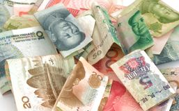 Fattura cinese del rmb di yuan di valuta Immagini Stock Libere da Diritti