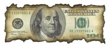 fattura del dollaro 100 fotografia stock
