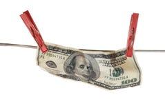 fattura del dollaro 100 Fotografie Stock Libere da Diritti
