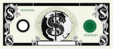 Fattura del dollaro Fotografie Stock