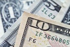 Fattura del dollaro degli Stati Uniti dieci Fotografia Stock