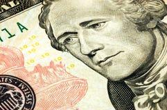 Fattura del dollaro dieci Fotografia Stock Libera da Diritti