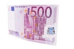 fattura dell'euro 500 Fotografia Stock