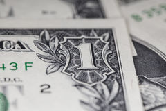 Fattura di dollaro americano, macro eccellente, Fotografia Stock Libera da Diritti