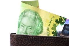 Fattura di macro 20$, canadese Immagini Stock