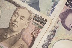 Fattura di Yen giapponesi Fotografia Stock