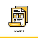 FATTURA lineare dell'icona di finanza, contante Pittogramma in st del profilo Immagini Stock