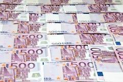 Fatture curreny degli euro contanti dei soldi come priorità bassa Fotografia Stock Libera da Diritti