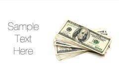 Fatture del dollaro Immagine Stock