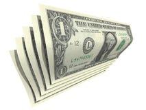 Fatture del dollaro Fotografie Stock