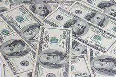 100 fatture del dollaro Fotografie Stock