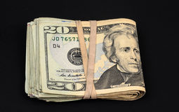 20 fatture del dollaro Fotografie Stock Libere da Diritti