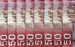 Fatture del dollaro canadese Fotografie Stock