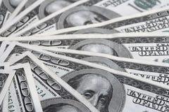 Fatture del dollaro di Hundert Fotografie Stock