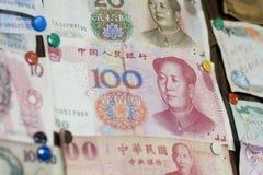 Fatture della Cina con il fronte del `s del Mao Fotografia Stock Libera da Diritti
