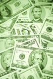 Fatture di carta differenti degli Stati Uniti Fotografia Stock Libera da Diritti