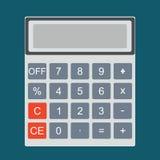 Fatture di pagamento Icona del calcolatore e Fotografia Stock