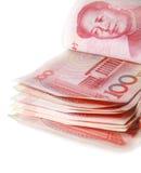 100 fatture di RMB Fotografia Stock Libera da Diritti