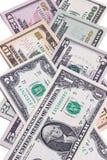 Fatture di soldi americane del dollaro degli Stati Uniti isolate su fondo bianco Fotografia Stock Libera da Diritti