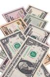 Fatture di soldi americane del dollaro degli Stati Uniti isolate su fondo bianco Immagine Stock Libera da Diritti