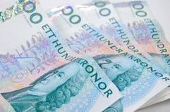 Fatture di soldi isolate Fotografie Stock Libere da Diritti