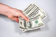 Fatture di valuta degli Stati Uniti 100 Fotografia Stock