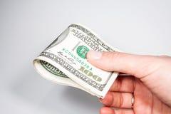 Fatture di valuta degli Stati Uniti 100 Fotografie Stock