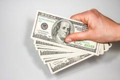 Fatture di valuta degli Stati Uniti 100 Fotografia Stock Libera da Diritti
