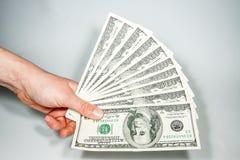 Fatture di valuta degli Stati Uniti 100 Immagine Stock