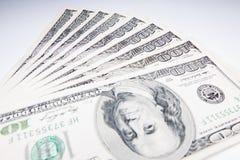 Fatture di valuta degli Stati Uniti 100 Immagini Stock Libere da Diritti