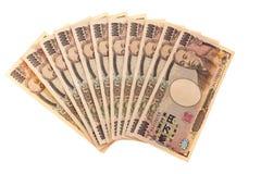Fatture di valuta di Yen giapponesi Fotografia Stock Libera da Diritti