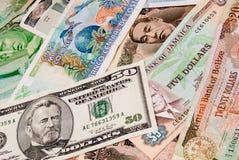 Fatture di valuta estera Immagine Stock