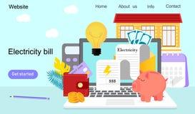 Fatture pratiche e risorse di risparmio illustrazione vettoriale