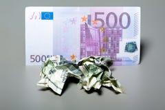 Fatture sgualcite del dollaro Immagini Stock Libere da Diritti