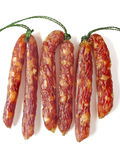 Fatty chinese pork sausages Royalty Free Stock Photos