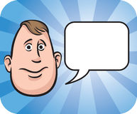 Fatty face with speech bubble Stock Images