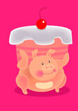 Fatty pig Stock Images