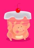 Fatty pig royalty free illustration