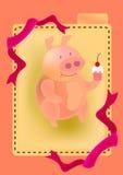 Fatty pig stock illustration