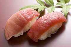 Fatty tuna sushi. Japanese food Royalty Free Stock Photo