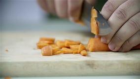Fatura da fatia da cenoura alaranjada video estoque