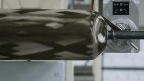 Fatura da fibra do carbono na planta filme