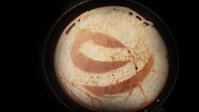Fatura do crepe feito home - Timelapse video estoque