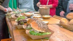 Fatura dos hamburgueres Imagem de Stock