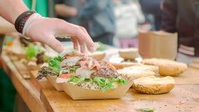 Fatura dos hamburgueres Imagens de Stock
