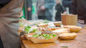 Fatura dos hamburgueres Fotografia de Stock Royalty Free