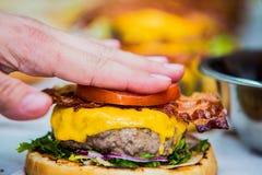 Fatura dos hamburgueres foto de stock
