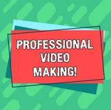 Fatura profissional do vídeo do texto da escrita da palavra Conceito do negócio para as imagens da realização gravadas digitalmen ilustração stock