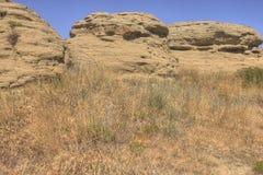 Faturamentos, Montana como visto de cima no verão imagens de stock